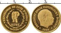 Изображение Монеты Африка Кот-д`Ивуар 10 франков 1966 Золото Proof-