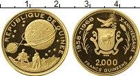 Изображение Монеты Гвинея 2000 франков 1968 Золото Proof-