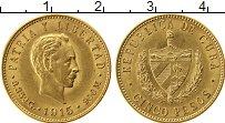 Изображение Монеты Северная Америка Куба 5 песо 1915 Золото UNC