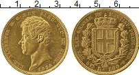 Изображение Монеты Сардиния 100 лир 1834 Золото XF+