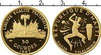 Изображение Монеты Гаити 50 гурдес 1967 Золото Proof 10-летие революции (