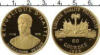 Изображение Монеты Гаити 50 гурдес 1969 Золото Proof 10-летие революции (
