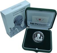 Изображение Подарочные монеты Ватикан 5 евро 2018 Серебро Proof 5-я годовщина со дня