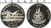 Изображение Монеты Австралия и Океания Вануату 50 вату 1992 Серебро Proof-
