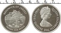 Изображение Монеты Остров Джерси 25 пенсов 1977 Серебро Proof- 25 лет правления Ели