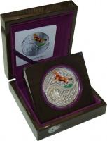 Изображение Подарочные монеты Фиджи Год лошади 2014 Серебро Proof