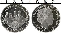 Изображение Монеты Великобритания Гернси 5 фунтов 2005 Серебро Proof