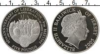 Изображение Монеты Великобритания Остров Джерси 5 фунтов 2005 Серебро Proof