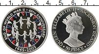 Изображение Монеты Великобритания Остров Вознесения 50 пенсов 2005 Серебро Proof
