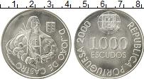 Изображение Монеты Португалия 1000 эскудо 2000 Серебро UNC