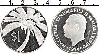 Изображение Монеты Самоа 1 доллар 1974 Серебро Proof-