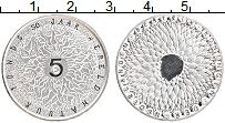 Изображение Монеты Нидерланды 5 евро 2011 Посеребрение UNC 50 лет Всемирного фо