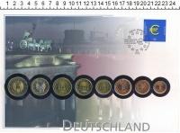 Изображение Подарочные монеты Германия Германия 2002 2002  UNC- !!! ДВОРЫ РАЗНЫЕ !!!