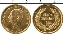 Изображение Монеты Азия Турция 100 куруш 1923 Золото UNC
