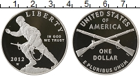 Изображение Монеты Северная Америка США 1 доллар 2012 Серебро Proof-