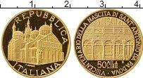 Изображение Монеты Италия 50000 лир 1995 Золото Proof-