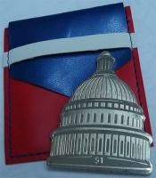 Изображение Подарочные монеты Виргинские острова 1 доллар 2017 Бронза Proof Капитолий. Оригиналь