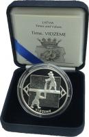 Изображение Подарочные монеты Латвия 1 лат 2004 Серебро Proof `Серия ``Время`` - В