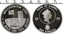 Изображение Монеты Африка Замбия 1000 квач 1999 Серебро Proof