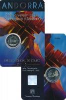 Изображение Подарочные монеты Андорра 2 евро 2018 Биметалл UNC