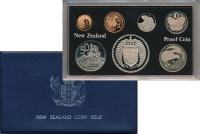 Изображение Подарочные монеты Новая Зеландия Регулярный чекан 1976 года 1976  Proof В наборе 7 монет ном