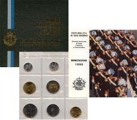 Изображение Подарочные монеты Сан-Марино Набор 1986 года 1986  UNC Набор монет Сан-Мари