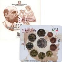 Изображение Подарочные монеты Италия Габриэле Аннунцио 2013  UNC `Подарочный набор по