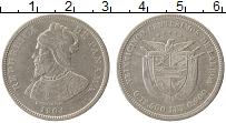 Изображение Монеты Панама 25 сентесимо 1904 Серебро XF Васко Нуньес де Баль