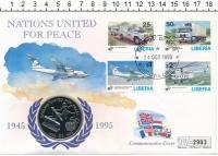Изображение Подарочные монеты Либерия 1 доллар 1995 Медно-никель UNC