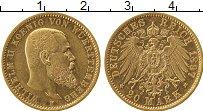 Изображение Монеты Германия Вюртемберг 20 марок 1897 Золото XF
