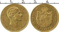 Изображение Монеты Европа Испания 25 песет 1880 Золото XF