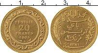 Изображение Монеты Африка Тунис 20 франков 1903 Золото XF