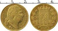 Изображение Монеты Европа Франция 20 франков 1817 Золото XF-
