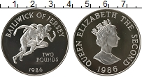 Изображение Монеты Великобритания Остров Джерси 2 фунта 1986 Серебро Proof