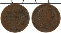 Изображение Монеты Швеция 1/2 скиллинга 1832 Медь XF