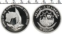 Изображение Монеты Либерия 10 долларов 2000 Серебро Proof Олимпийские игры, па