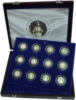 Изображение Подарочные монеты Великобритания 50-летие коронации 2003 Серебро Proof Подарочный набор пос