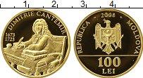 Изображение Монеты СНГ Молдавия 100 лей 2008 Золото Proof