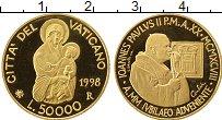 Изображение Монеты Европа Ватикан 50000 лир 1998 Золото Proof