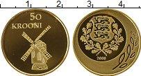 Изображение Монеты Европа Эстония 50 крон 2008 Золото Proof