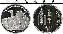 Изображение Монеты Монголия 500 тугриков 1999 Серебро Proof