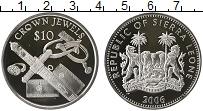 Изображение Монеты Сьерра-Леоне 10 долларов 2006 Серебро Proof-