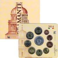 Изображение Подарочные монеты Италия Евронабор 2014 2014  UNC