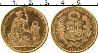 Изображение Монеты Перу 50 соль 1967 Золото UNC