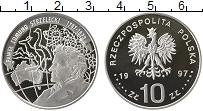 Изображение Монеты Польша 10 злотых 1997 Серебро Proof Павел Эдмунд Стшелец