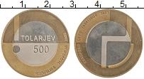 Изображение Монеты Словения 500 толаров 2003 Биметалл UNC