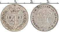 Изображение Монеты Великобритания 4 пенса 1867 Серебро XF Виктория