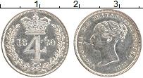 Изображение Монеты Великобритания 4 пенса 1870 Серебро XF
