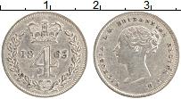 Изображение Монеты Великобритания 4 пенса 1863 Серебро VF Виктория