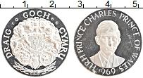Изображение Монеты Великобритания Жетон 1969 Серебро Proof- Принц Чарльз
